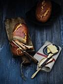 Malt bread with butter (Sweden)