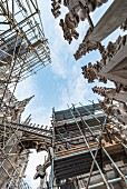 In order the preserve the Milan famous landmark, renovation work is continuously being carried out on the cathedral