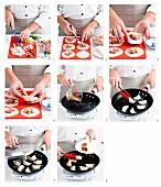 Guotie (gebratene Teigtaschen) zubereiten