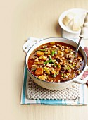 Hearty beef and black-eyed bean soup