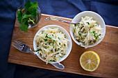 Kohlrabi salad with lemon