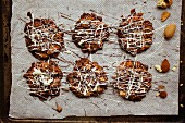 Florentines on a baking tray