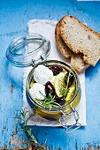 Marinated fresh goat's cheese