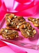 Toffee with chopped almonds