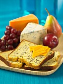 Wild rice bread with cheddar cheese and fruits