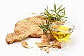 Unleavened bread with rosemary