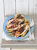 Grilled chicory with balsamic vinegar