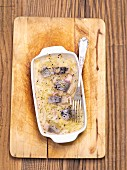 Baked herring with sauerkraut