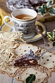 Panforte, Italian Christmas cake with tea