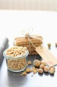 Hazelnuts and muesli bars as a gift
