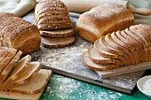 Various types of sliced bread