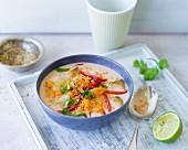 Jerusalem artichoke curry with coriander