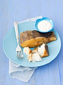 Smoked halibut with horseradish sauce