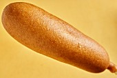 A corn dog (American speciality)