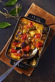 Mediterranean vegetable gratin with egg