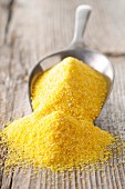 Golden yellow polenta