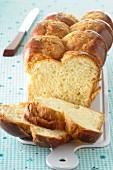 Sliced yeast braid bread