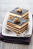 Chocolate mocha slices