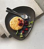 Haselnuss-Karotten-Küchlein mit Cranberries