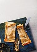 Boerek with chard and feta cheese