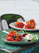Burrata with peppers alla piemontese