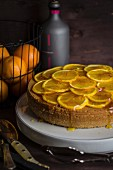 Orange cake with saffron