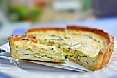 Courgette tart with cheese