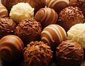 Chocolate truffles, close up