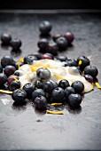 Blueberries with honey, yogurt and lemon zest