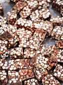 Kashata (Tanzanian peanut brittle) at a street market