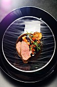 Entrecote lamb with rosemary and roasted vegetables