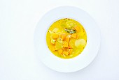 Kartoffel-Kürbis-Eintopf mit Safran