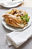 Chicken breast with Jerusalem artichokes
