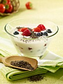 Berry yoghurt with chia seeds