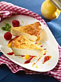 Fruity quark bake with raspberries