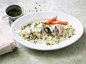 Soused herring salad with horseradish and cucumbers