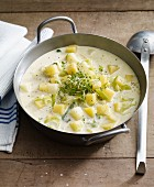 Creamy turnip stew with potatoes