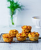 Tuna muffins with Gouda, peppers and courgettes