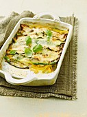 Parmigiana with courgettes and peppers
