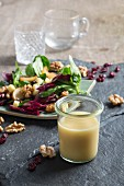 Homemade basic vinaigrette for autumnal salads