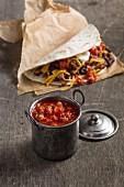 Homemade salsa Mexicana