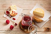 Homemade raspberry mostarda – perfect with strong cheese