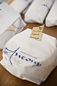 Ordered, cultivated cheese packed and ready to pick up, Alsace