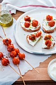 Bruschetta with roasted cherry tomatoes