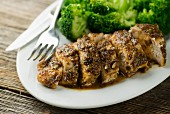 Mustard chicken with broccoli