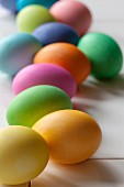 Coloured Easter eggs