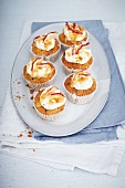 Apple sauce cupcakes with a toffee topping