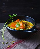 Thai pumpkin stew with ginger and coconut milk