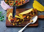 Scharfe Tacos mit Geflügel-Chili