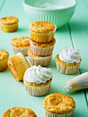 Lemon muffins with cream cheese frosting
